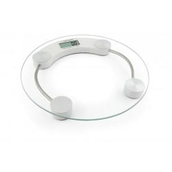 Cantar baie, 180 kg, platforma din sticla securizata de 6mm, afisaj electronic