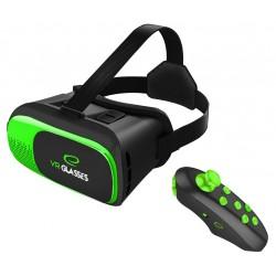 Ochelari VR 3D smartphone 3.5-6 inch, telecomanda bluetooth, Android iOS