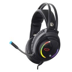 Casti gaming Esperanza EGH470, iluminare LED RGB NIGHTSHADE, cu microfon, Negre
